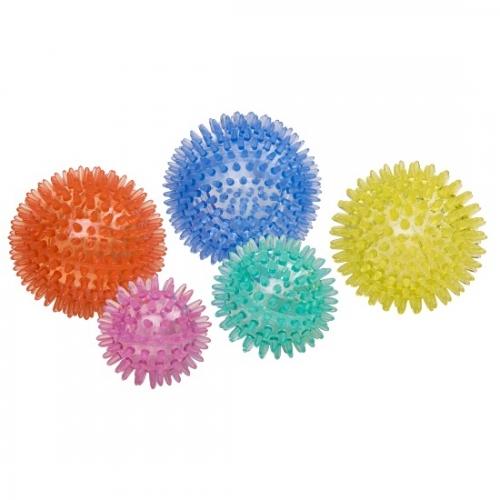 Sport-Thieme® zestaw piłek z wypustkami wraz z torbą do przechowywania