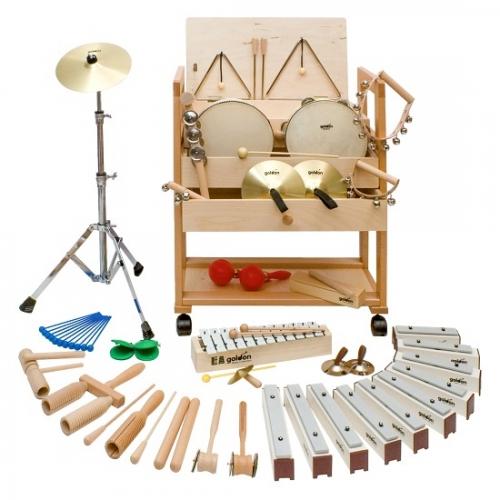Wózek z zestawem instrumentów rytmicznych