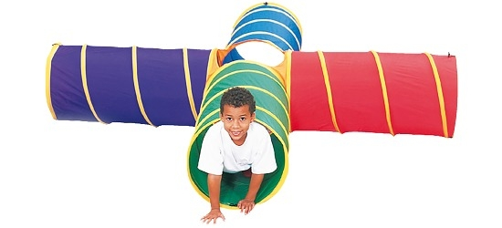 Tunel dla dzieci do czołgania Supercross (ze skrzyżowaniem)