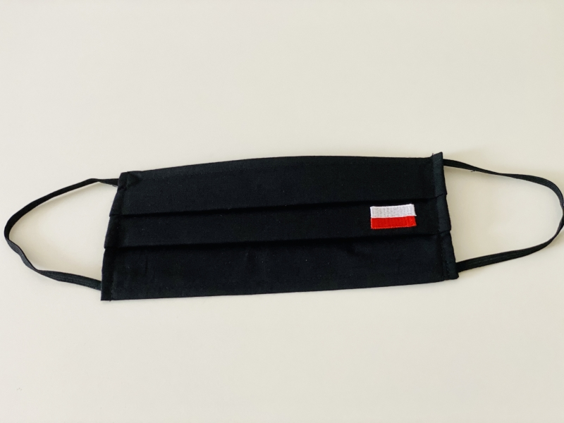 MASECZKA BAWEŁNIANA BOHATERON z haftowaną flagą Polski